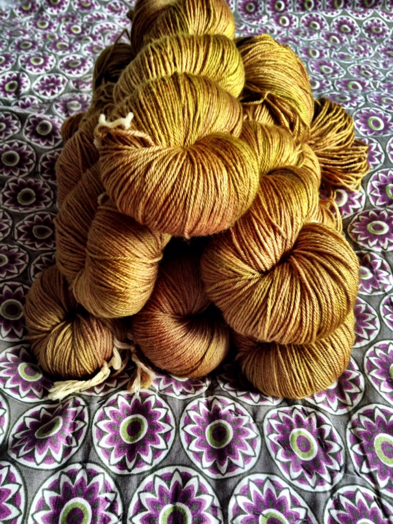 Goldbeehive - DyeForYarn. Loop, London