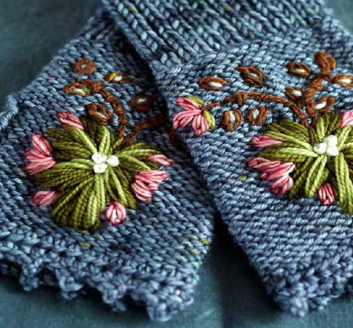 Rosemaling Mitts by TIf Fussell