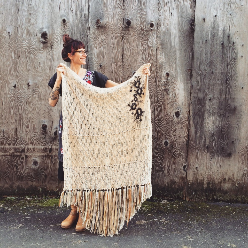 Woolly Tattoo Blanket. Photo courtesy of Tif Fussell.