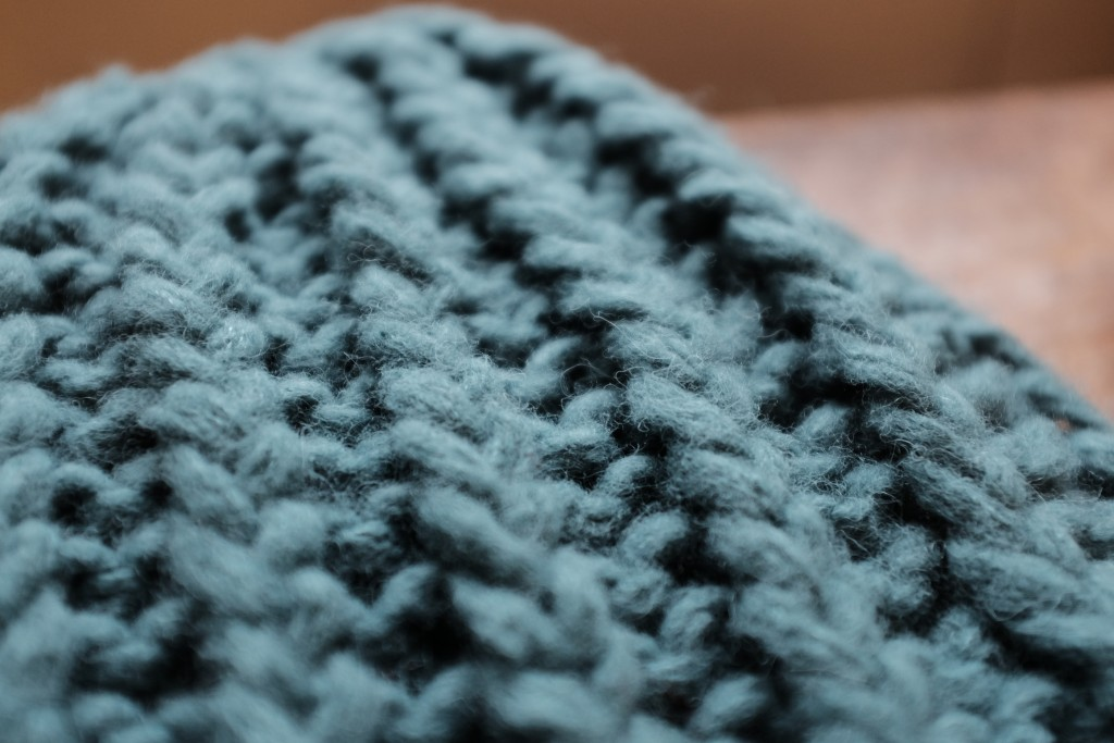 Woolfolk Hygge. TRÆF Hat (closeup) in 13 'Dirty Sea Foam' Loop, London www.loopknitlounge.com
