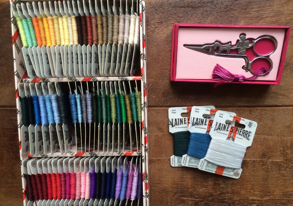 Sajou Threads and Horse and Cart Scissors. Loop, London. www.loopknitlounge.com