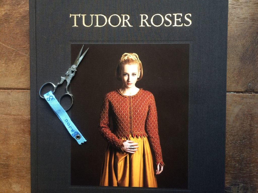 Tudor Roses by Alice Starmore and Sajou Hare Scissors. Loop, London www.loopknitlounge.com