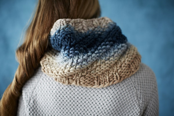 Cecelia Cowl,  Freia Super Bulky, Free Pattern,  Loop London