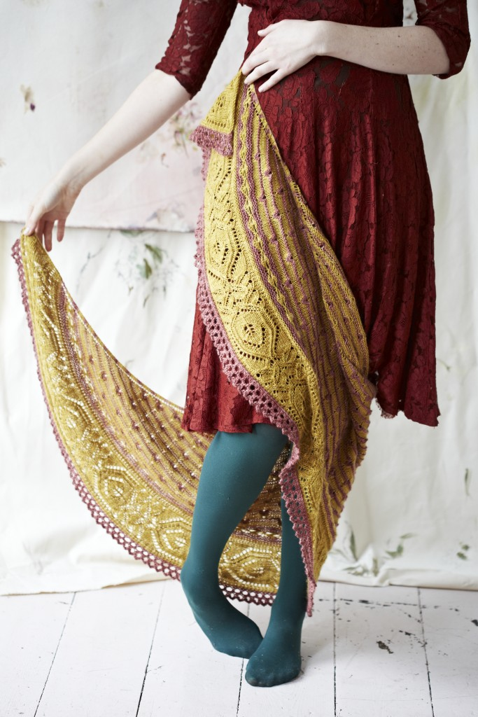 Piccadilly Shawl at Loop London. By Justyna Lorkowska for Loop.  Eden Cottage Yarns Hayton