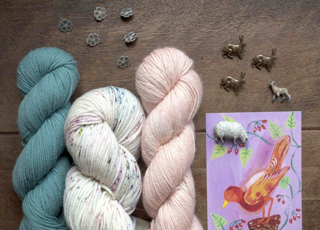 Easter at Loop (Finch in Belize, Vintage in Found Pottery and Old Maiden Aunt in Blossom.