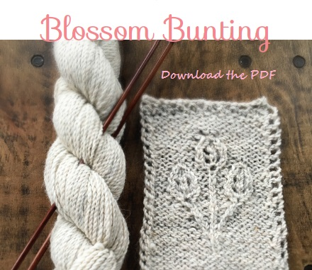 Blossom Bunting, Free Pattern Download from Loop, London