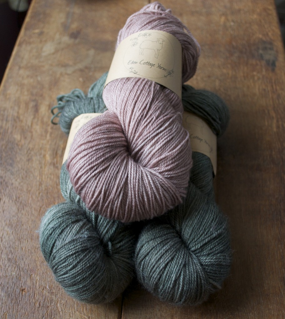 Eden Cottage Yarns Hayton. (Top- Bottom) Oak and Charcoal