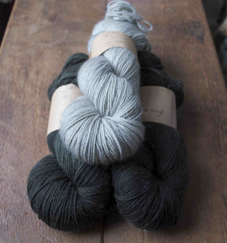 Eden Cottage Yarns Hayton. (Top- Bottom) Steel and Coal.