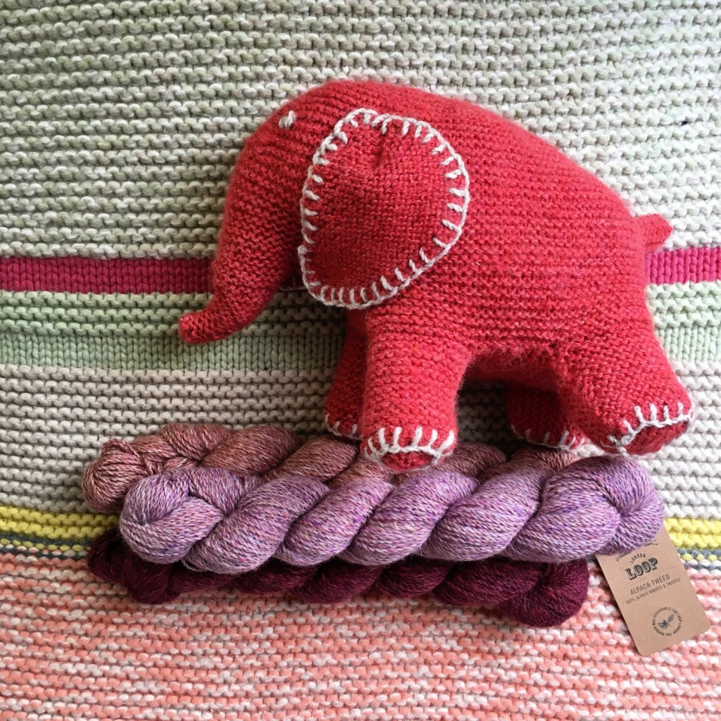 Flo the Elephant, Free Pattern from Knitty.com In the colour Ice Lolly