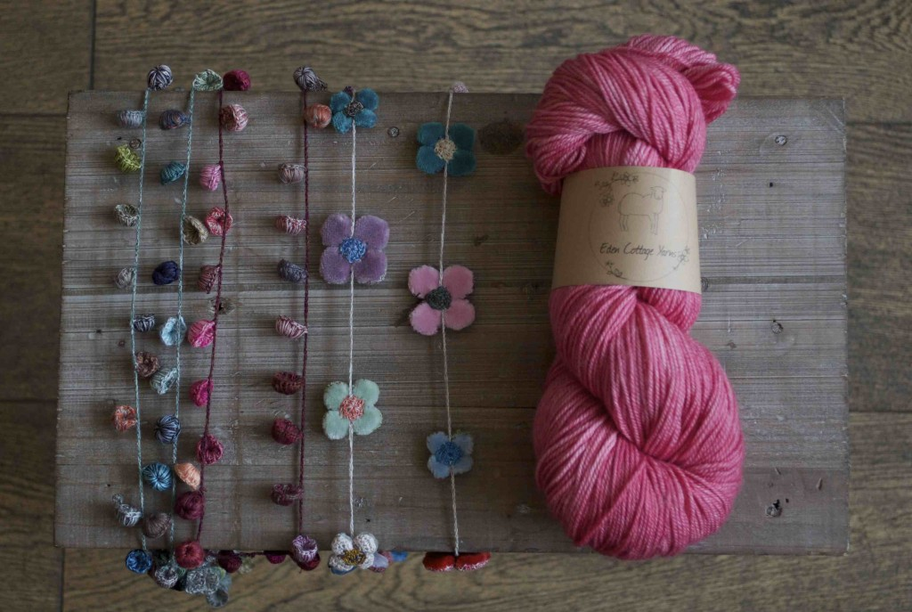 Sophie Digard Necklaces and Eden Cottage Yarns Hayton at Loop, London