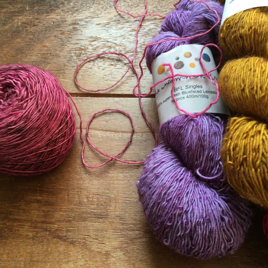The Uncommon Thread BFL Singles, Wilted Rose, Lila and Golden Praline. Loop, London