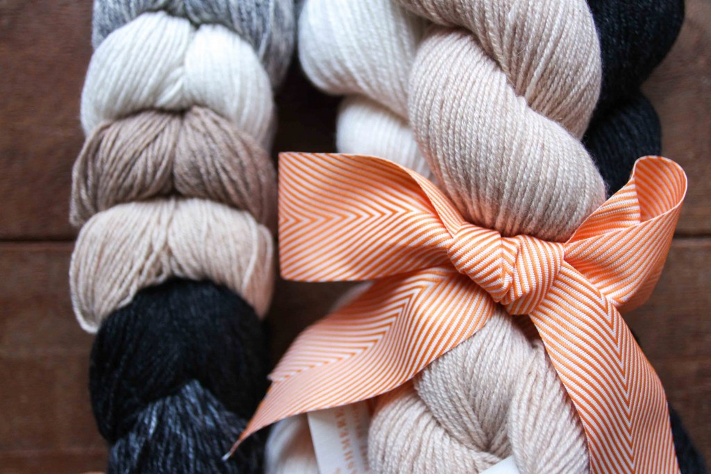 There are yarn bundles, and there areyarn bundles.  Fun Size Bundle in British and Menage a Trois in Thunder, Sand Trap, LJ