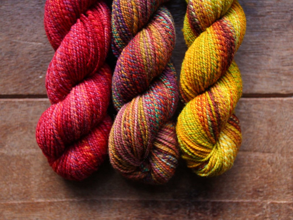 Dyed In The Wool in Devilish Grin, Rusted Rainbow & End Of Summer