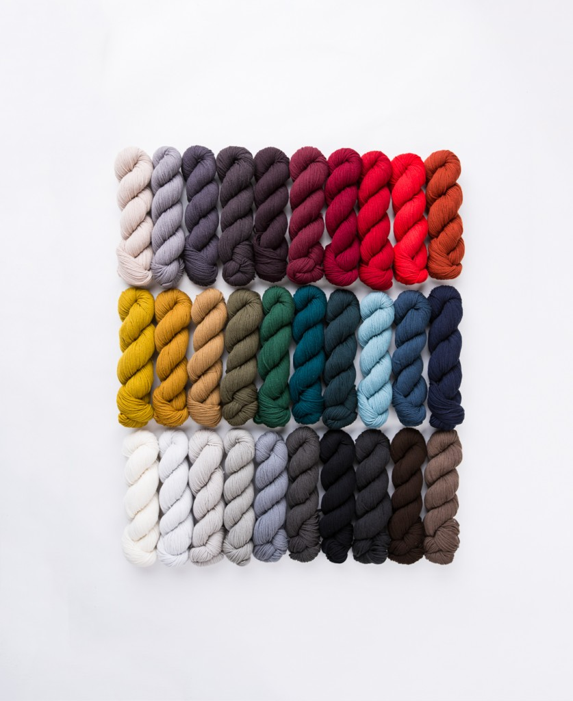 All 30 colours of Arbor! Image courtesy of Brooklyn Tweed