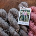Wool Trip in Mussel Grey and Rosé
