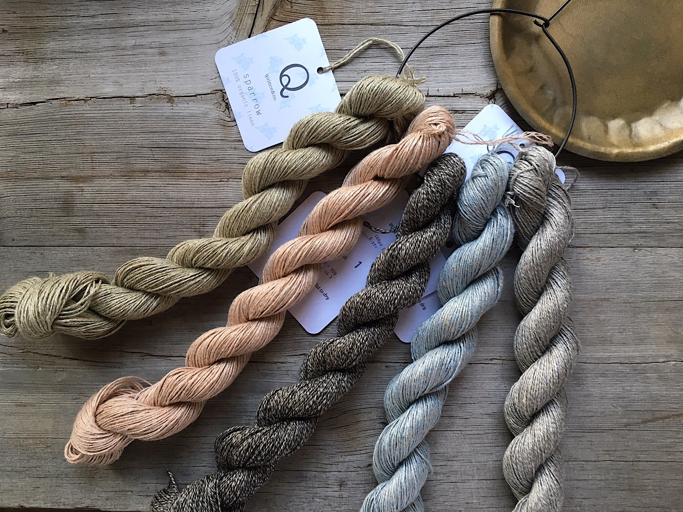New Quince & Co Marled Linen Yarn Colours