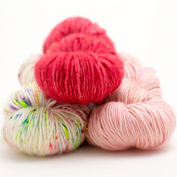 Madelinetosh Merino DK Easter coloured yarns at Loop London