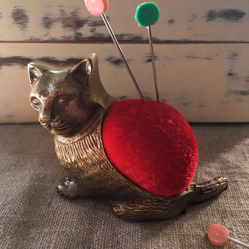 Kitten pin cushion at Loop London