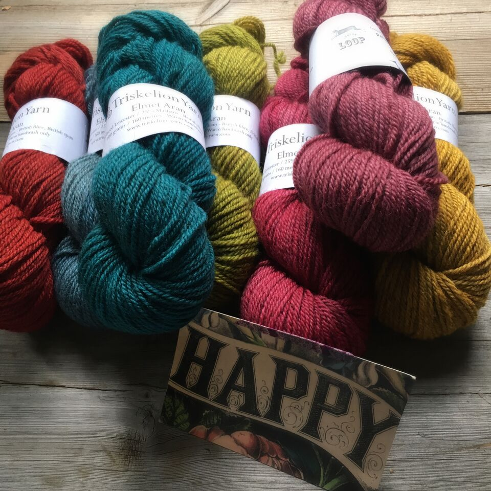 Triskelion ~An All British Aran Weight Yarn And Giveaway
