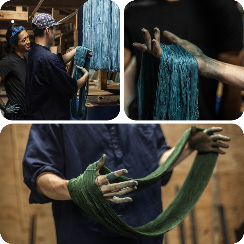 Buaisou Indigo dyeing at Loop London