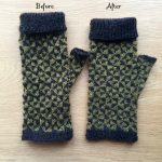 Pinwheel Mittens Blocking Tutorial at Loop London