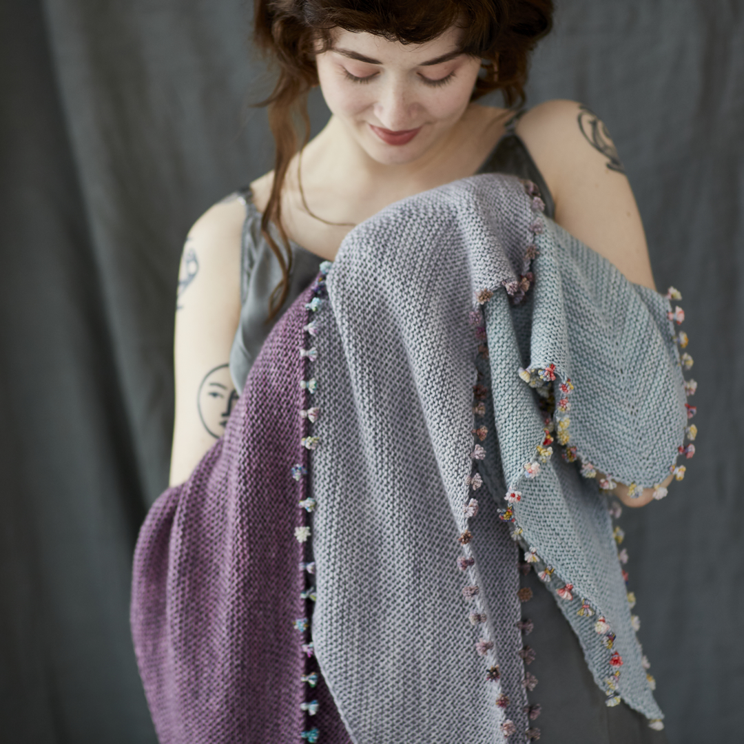 Tiny Tassels shawl in Pashmina at Loop London