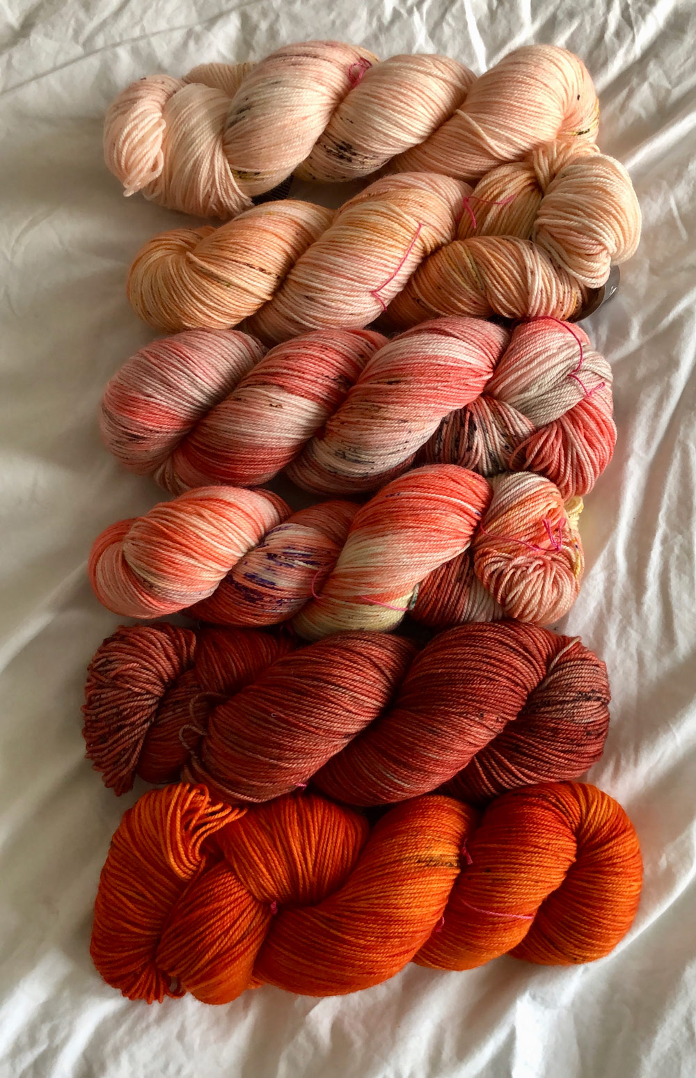 Ombre Madelinetosh colours at Loop London