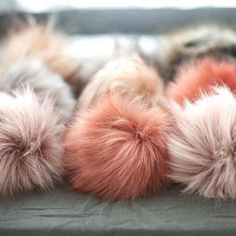 Faux Fur Pom Poms at Loop London
