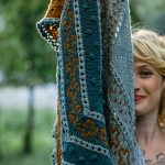 The golden hour shawl at Loop London