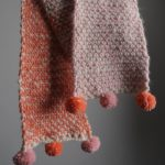 Two color moss stitch scarf at Loop London