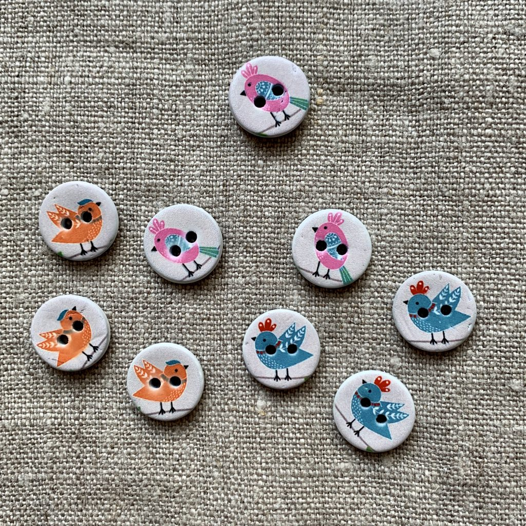 Bird Buttons at Loop London