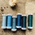 Au Ver A Soie Metallic thread set in Ice Blue at Loop London
