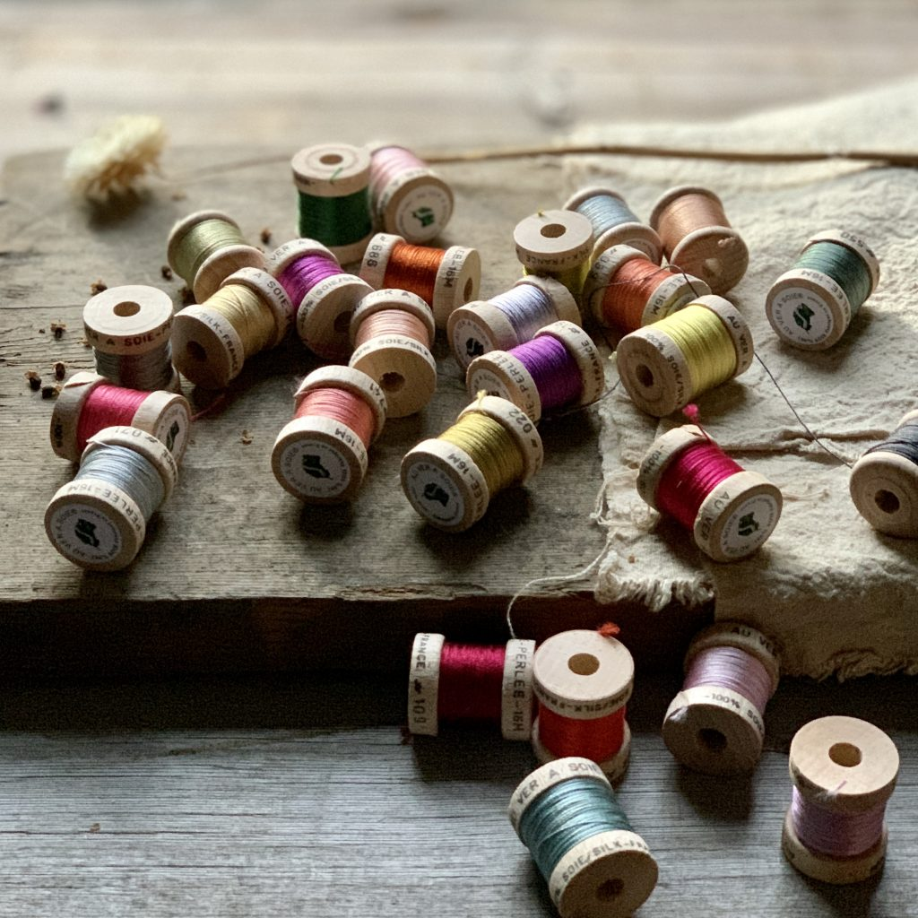 Au Ver A Soie silk bobbins at Loop London