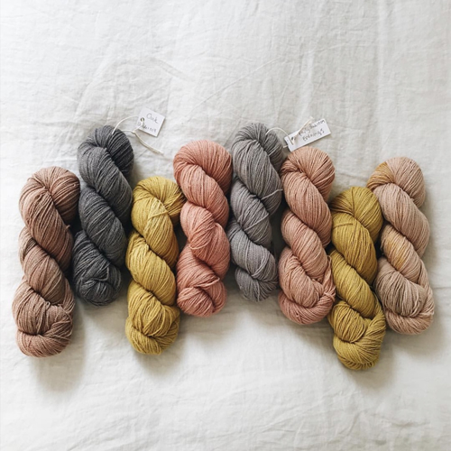 Naturally dyed loveliness from Woolly Mammoth Fibre Co.