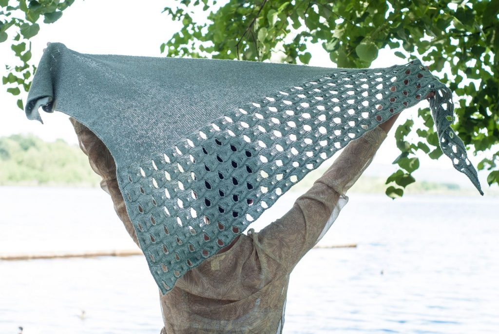 Melanie Berg Open Waters shawl at Loop London