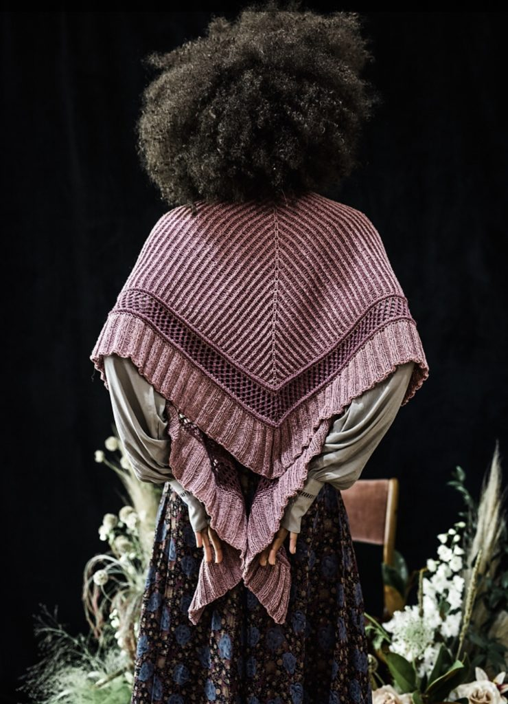 Xandy Peters Sojourner Shawl from PomPom Issue 27 at Loop London