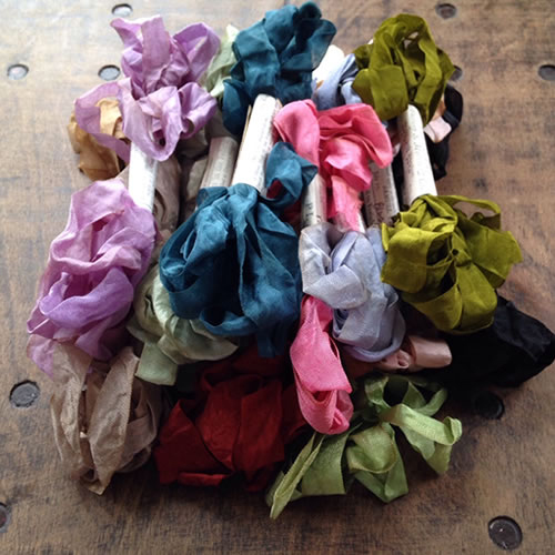 Monahan hand dyed silk ribbon at Loop London