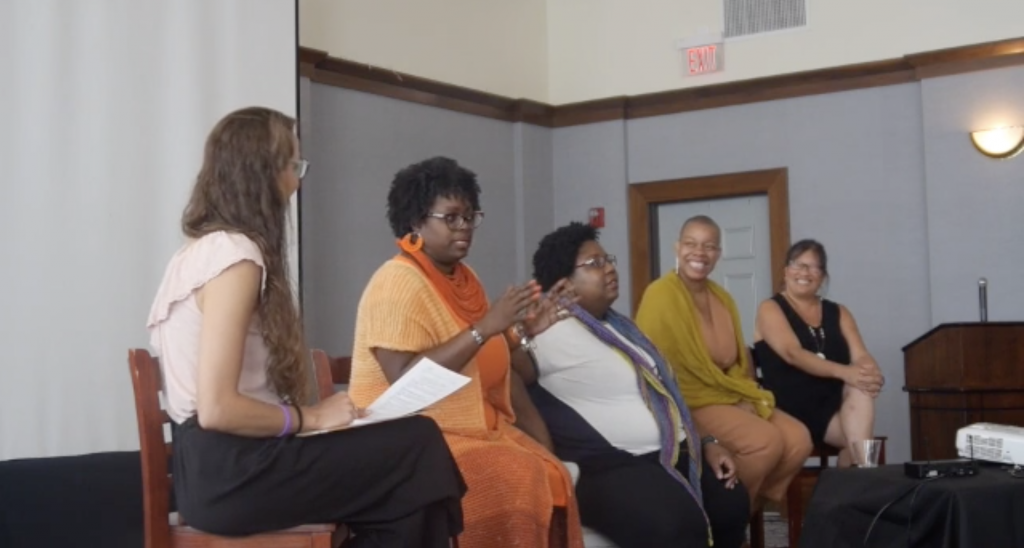 Stitched Together panel discussion at Squam 2019