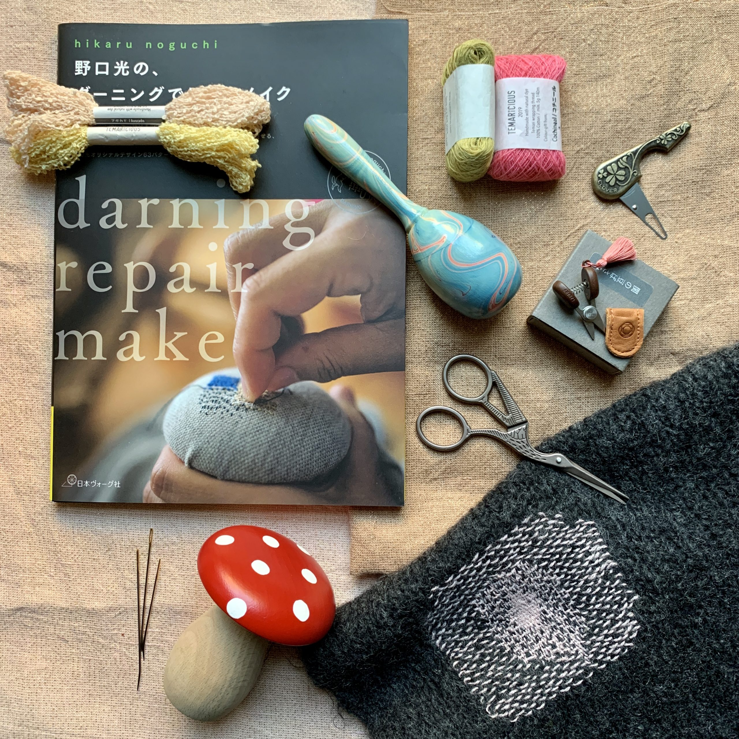 Christmas gifts for darning, embroidery and haberdashery lovers