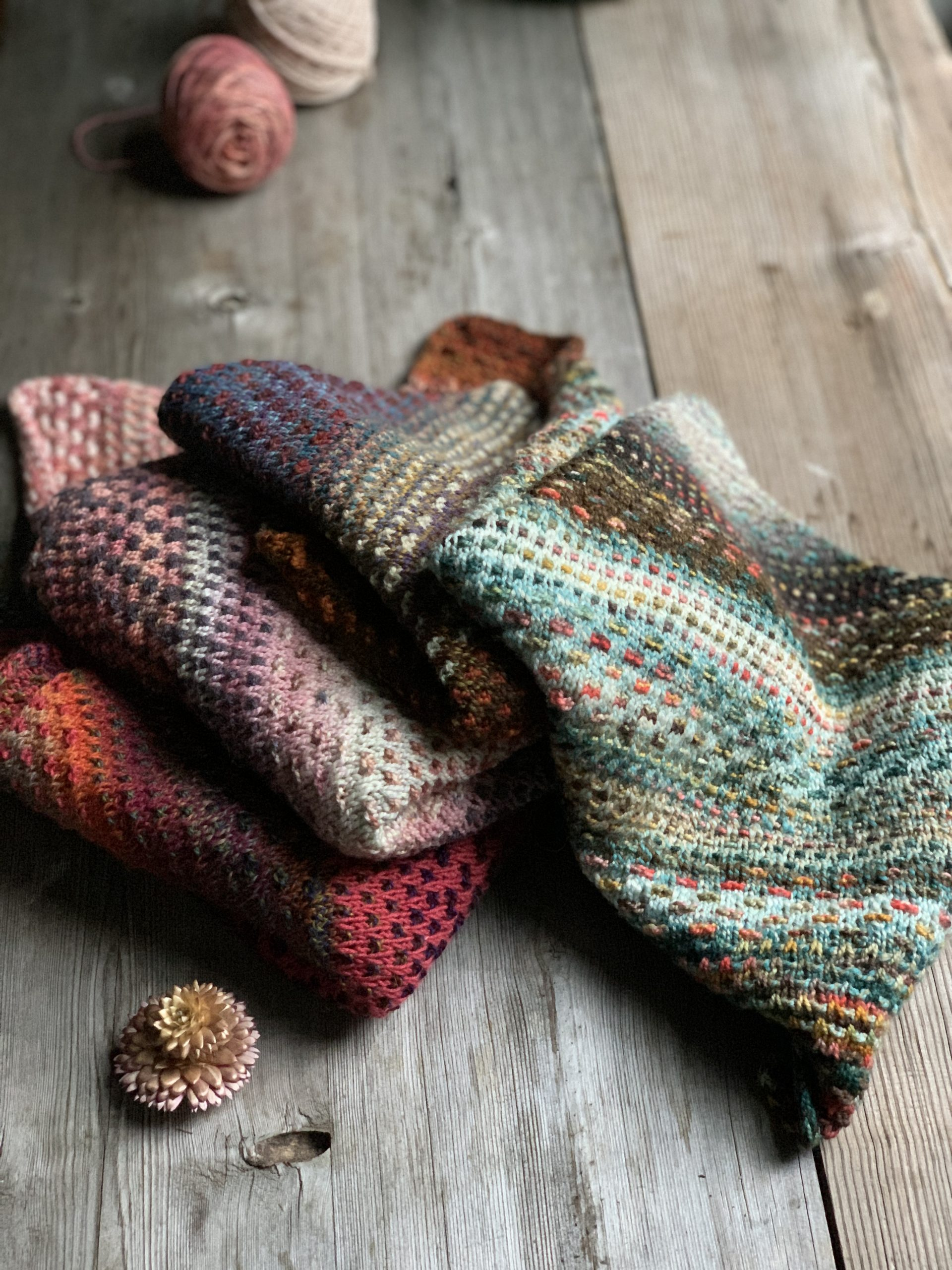 On Our Needles – The Shift cowl