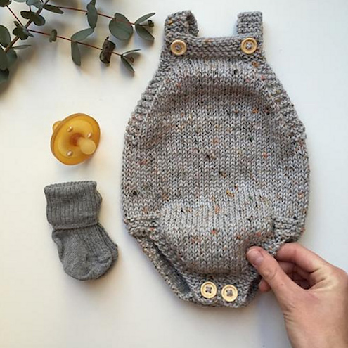 PetiteKnit Little Brothers Romper at Loop London