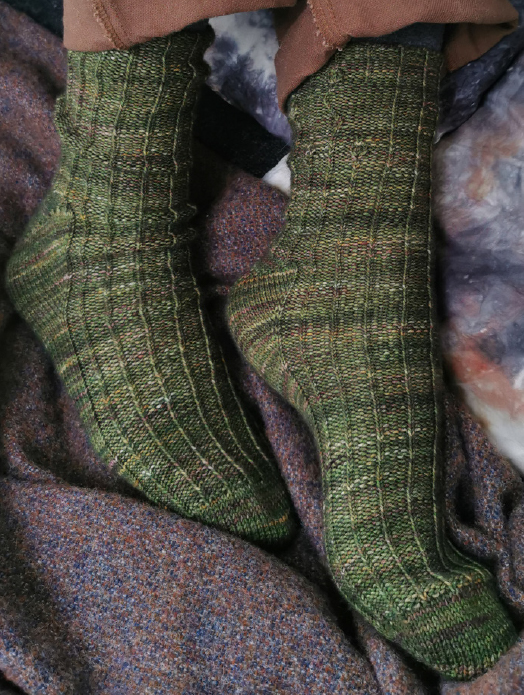 Through The Trees - Husk sock pattern