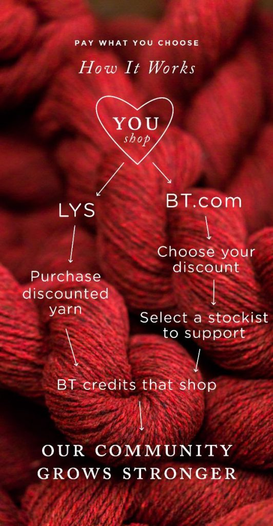 Brooklyn Tweed pay what you choose at Loop London